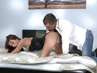 Fit Brown Bounces on a Hard Cock
